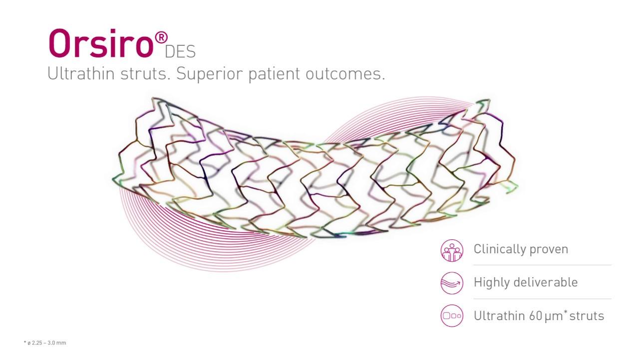 Стент для коронарных артерий Orsiro от BIOTRONIK